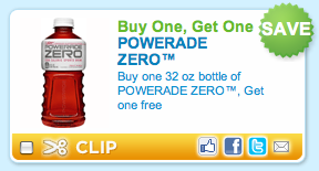 Picture 53 Powerade Zero:  Buy 1 Get 1 FREE Printable Coupon!