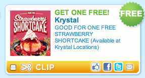 photograph regarding Krystal Printable Coupons identified as KRYSTAL: Absolutely free Strawberry Shortcake Coupon! Coupon Expert