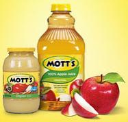Mott's sauce and juice