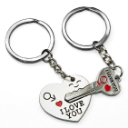 Couples key chain set