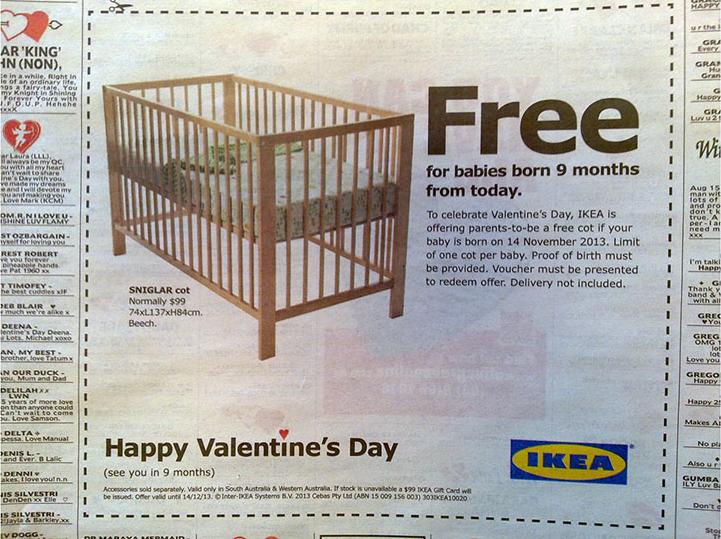 free baby crib coupon