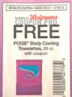 free poise wipes coupon