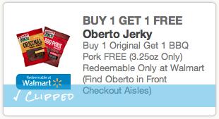 BOGO Oberto beef jerky