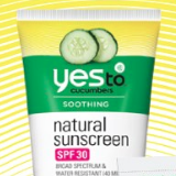 Yes to cucumbers spf 30