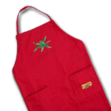 Red gold apron