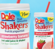 Dole fruit smoothie shakers