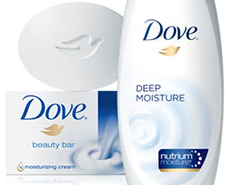Dove body wash and soap