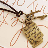 Retro Shakespeare Love Letter Necklace coupon pro