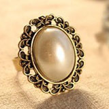 Imitation Pearl  Adjustable Stretch Ring coupon pro
