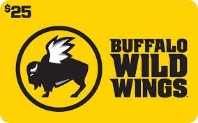 Buffalo wild wings gift card 25