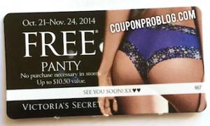 7d921682ed2d Victoria's Secret: FREE Panty ($10.50 Value!) — Coupon Pro