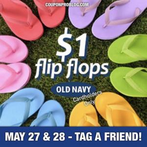 0cad4af81d4b Old Navy Cardholders   1 Flip Flops Sale (5 27   5 28)