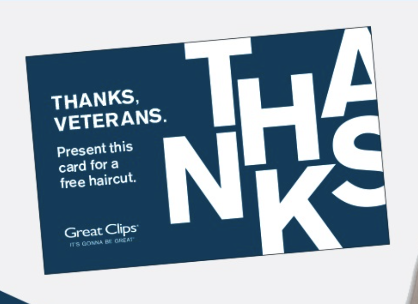 Great Clips Free Haircut For Veterans November 11th