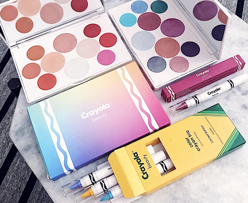 crayola just released a 58 piece makeup collection