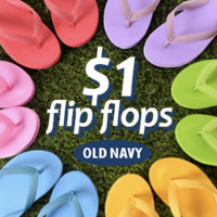 Old Navy: $1 Flip Flops Sale for Everyone (Today Only)