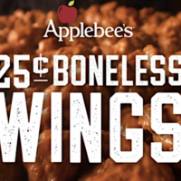 Applebee's: Boneless Wings – Only $.25 Each